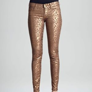 NWT $189 7 FOR ALL MANKIND 26 CHEETAH COPPER